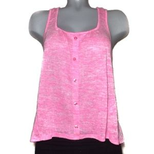 Eyeshadow Pink Tank Top Lace back